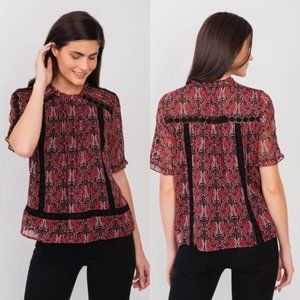 ANTHROPOLOGIE Tina Embroidered Lace Blouse